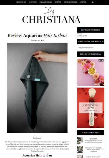 Aquarius Haircare - ByChristiana.nl