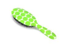 Rock & Ruddle Neon Green Polka Dot Haarborstel