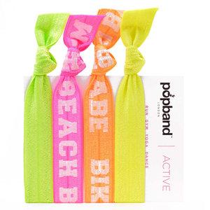 Popband Bikini Babe, Beach Bum Active Haarelastiekjes Multipack 4 stuks