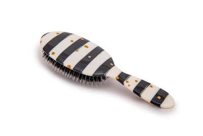 Black & White Stripes with Gold Dots