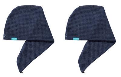 2-pack Aquarius Hair Turban Navy Blauw. Ook geschikt voor geverfd haar.