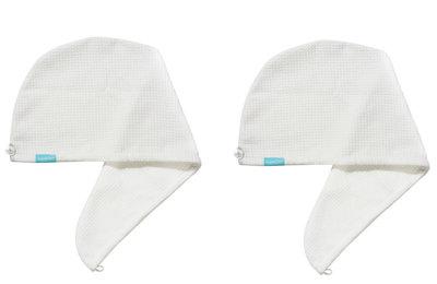 2-Pack Aquarius Hair Turban White
